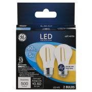 GE LED 5w (60w Equivalent) Clear Ceiling Fan Bulbs