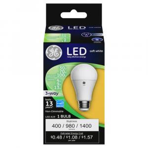 GE LED 30/70/100w Soft White 3-Way Bulb