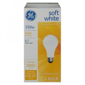 GE 150w Soft White General Purpose Bulb