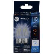 GE LED Reveal HD 4 (40w Equivalent) Clear Bulbs