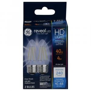 GE LED Reveal HD 4 (40w Replacement) Clear Bulbs