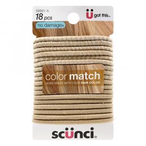 Scunci No Damage Color Match Blonde Elastics