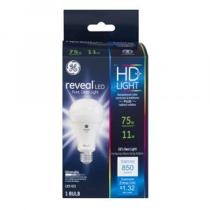 GE LED Reveal HD 11w (75w Replacement) Bulb