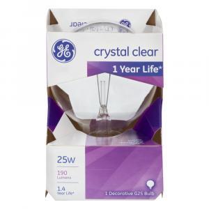 GE 25w Crystal Clear 1 Year Life Round Bulb
