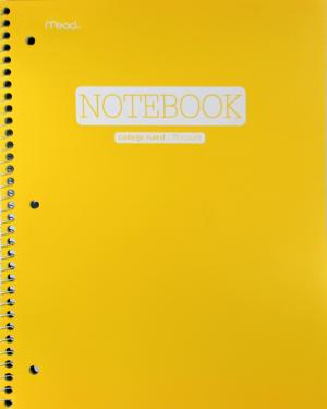 Mead Poly Cover College Ruled Notebook