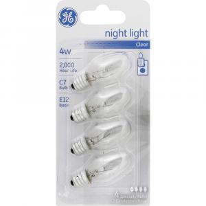 GE 4w Clear Nightlight Bulbs