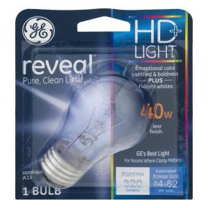 GE Reveal HD 40w Clear Appliance Bulb