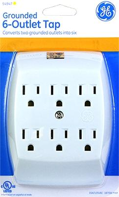 General Electric 6-Outlet Adapter