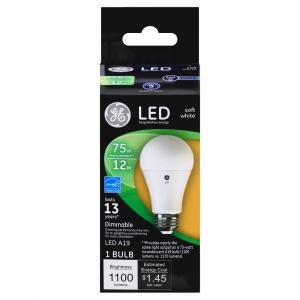 GE LED 12w (75w Replacement) Soft White Bulb
