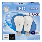 GE LED 10w (60w Equivalent) Daylight General Purpose Bulbs