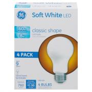 GE LED 8w (60w Replacement) Soft White Classic Shape Bulbs