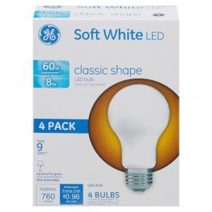 GE LED 8w Soft White Classic Shape Bulbs