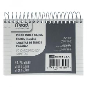 """Index Cards Wire 3"""" x 5"""""""