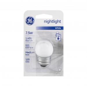 GE 7.5w White Nightlight Bulb