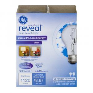 GE Reveal HD 72w Halogen Clear Bulbs