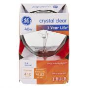 GE 40w Crystal Clear 1 Year Life Decorative Round Bulb