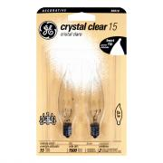 GE 15w Crystal Clear Decorative Candle Bulbs