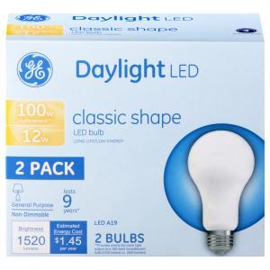 GE LED Day Light 12 Watt Classic Shape Bulb
