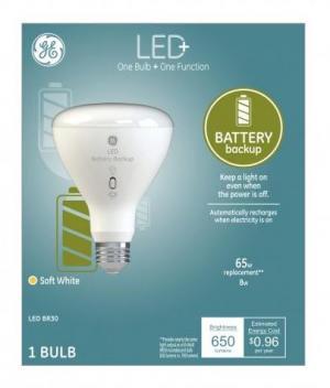 GE LED+ 8w Battery Backup Soft White Bulb