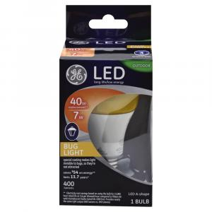 GE LED 7w (40w Replacement) Outdoor Bug Light Bulb