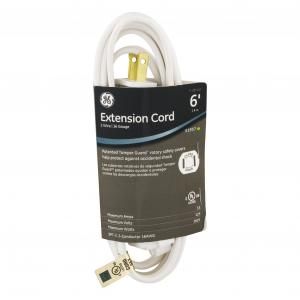 General Electric 6' White Extension Cord