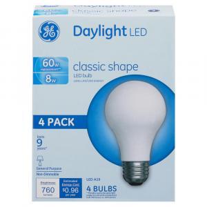GE LED 60w Daylight Classic Shape Bulbs