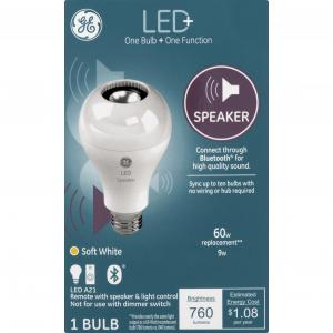 GE LED+ Speaker 9w (60w Replacement) Soft White Bulb