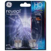 GE Reveal HD 40w Clear Decorative Bulbs