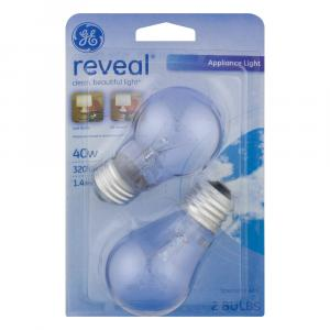GE Reveal 40w Appliance A15 Bulbs