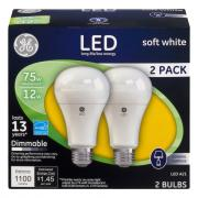 GE LED 12w (75w Replacement) Soft White Dimmable Bulbs