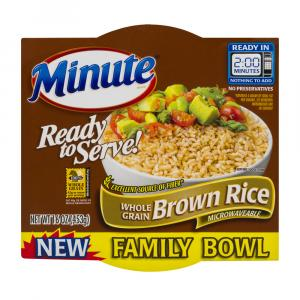 Minute Ready To Serve Brown Rice Family Size Bowl