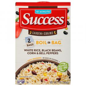 Success Boil in Bag Rice with Black Beans, Corn