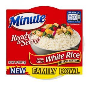 Minute Ready To Serve White Rice Family Size Bowl