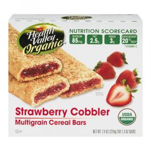 Health Valley Organic Strawberry Cobbler Bars