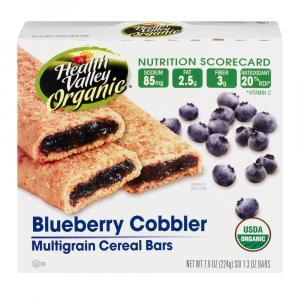 Health Valley Organic Blueberry Cobbler Bars