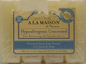 A La Maison Hypoallergenic Unscented Bar Soap