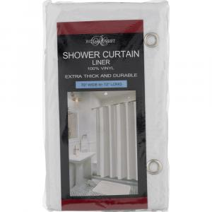 Royal Crest White Shower Curtain Liner