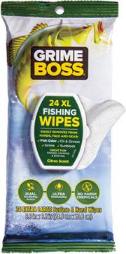 Grime Boss Fishing Wipes Citrus Scent Extra Large