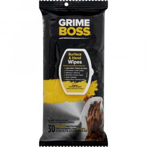 Grime Boss Surface And Hand Wipes Fresh Citrus Scent