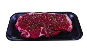 Seasoned Beef Loin Boneless Strip Steak