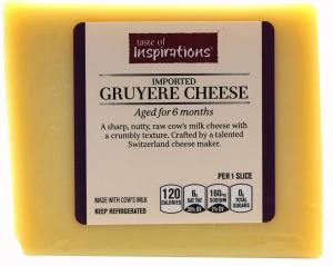 Taste of Inspirations Gruyere Cheese