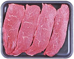 Beef Sirloin Tip Steak Thin Sliced