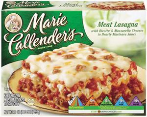 Marie Callender's Lasagna W/meat Sauce
