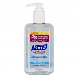 Purell Advanced Original Hand Sanitizer 25% Bonus