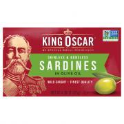 King Oscar Skinless & Boneless Sardines in Olive Oil