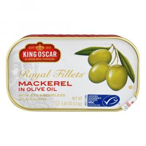 King Oscar Royal Fillets Mackerel in Olive Oil