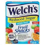 Welch's Reduced Sugar Mixed Fruit Snacks