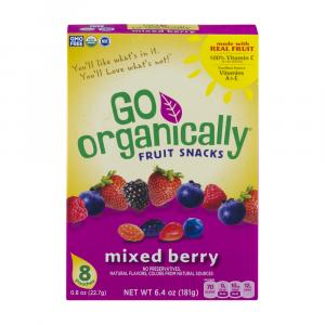 Go Organically Fruit Snacks Mixed Berry