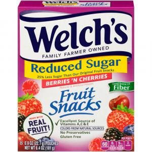 Welch's Reduced Sugar Berries 'N Cherries Fruit Snacks
