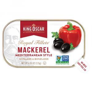 King Oscar Mackerel Fillets Mediterranean Style